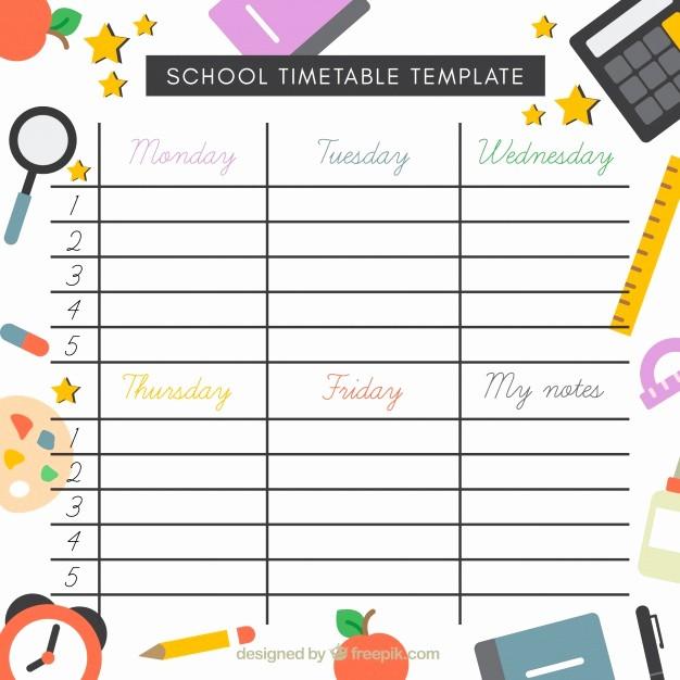 Formato Para Horarios De Trabajo Fresh Modelo De Horário Escolar Elementos Em Design Plano
