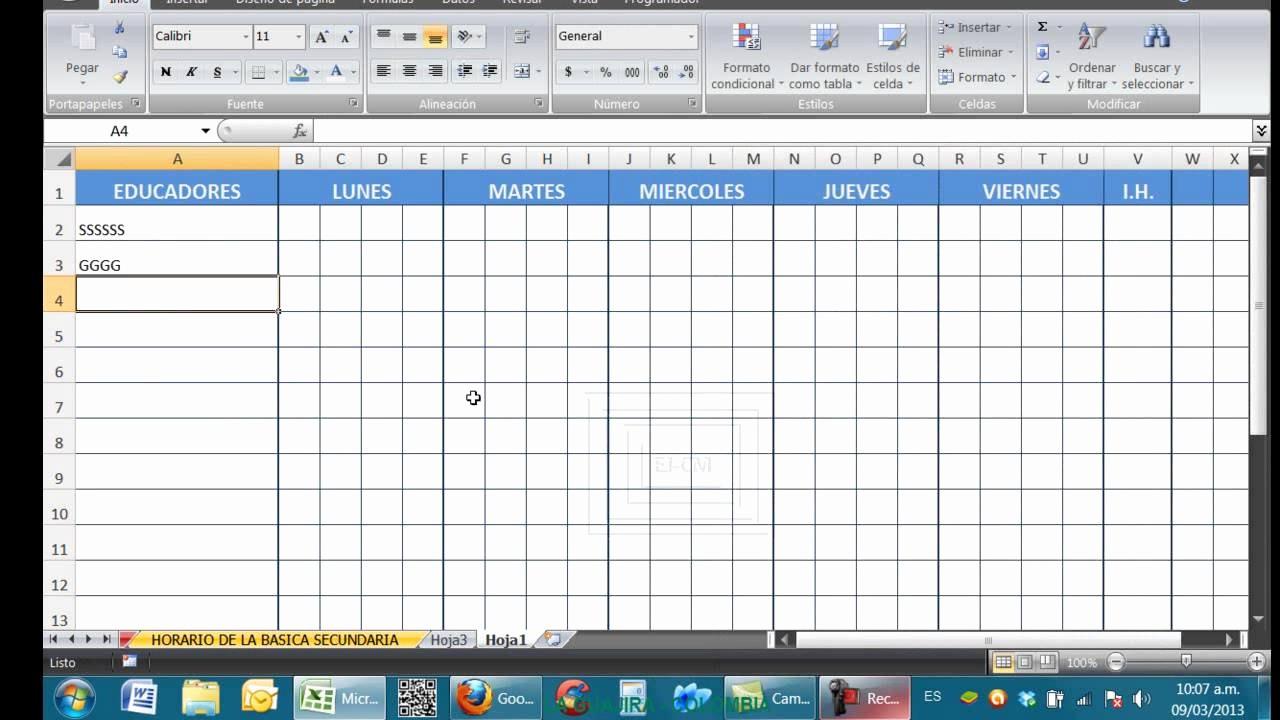 Formato Para Horarios De Trabajo Inspirational Horarios Para Instituciones Educativas En Excel
