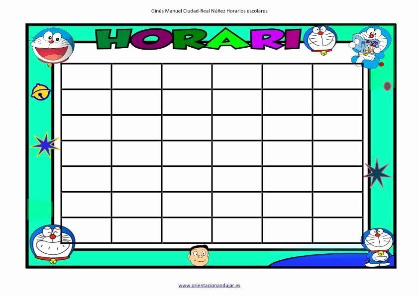 plantillas para horarios divertidos en word hazte tu horario