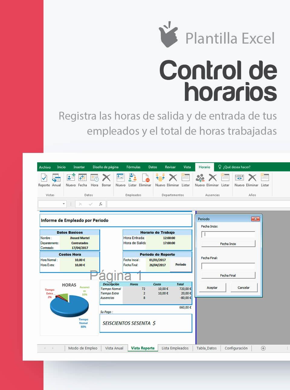 Formato Para Horarios De Trabajo Unique Plantilla Control De Horarios Y Horas Trabajadas