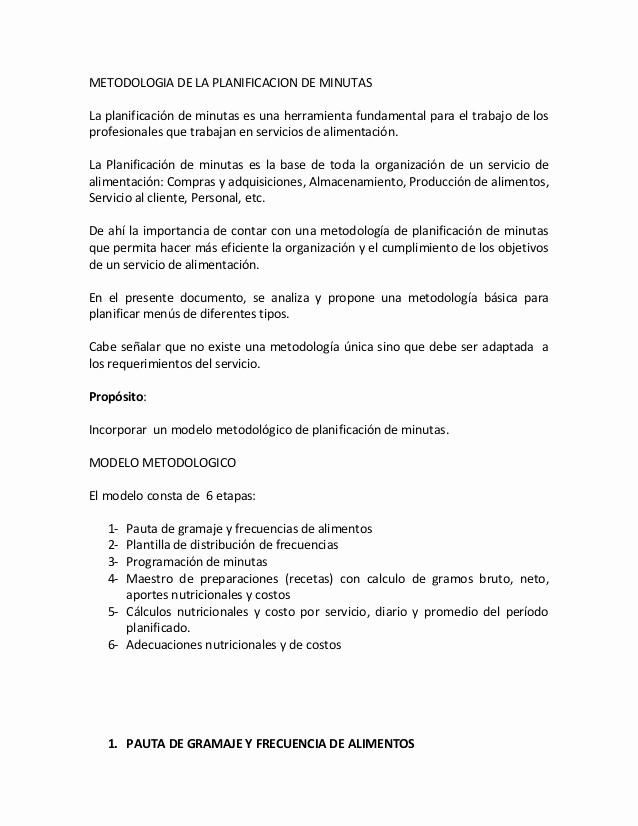 Formato Para Minuta De Trabajo Fresh Clase 4 Metodologia De La Planificacion De Minutas