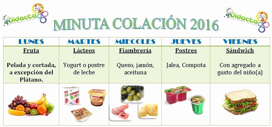 Formato Para Minutas De Juntas Awesome Minutas De Almuerzo Y Colaciones
