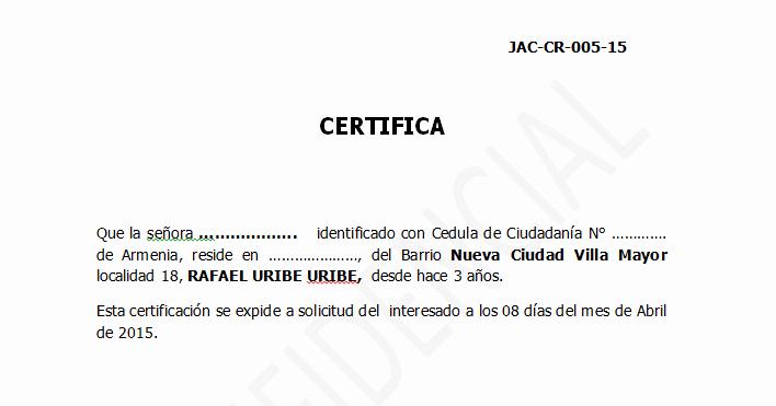 Formato Para Minutas De Juntas Luxury Certificado De Residencia