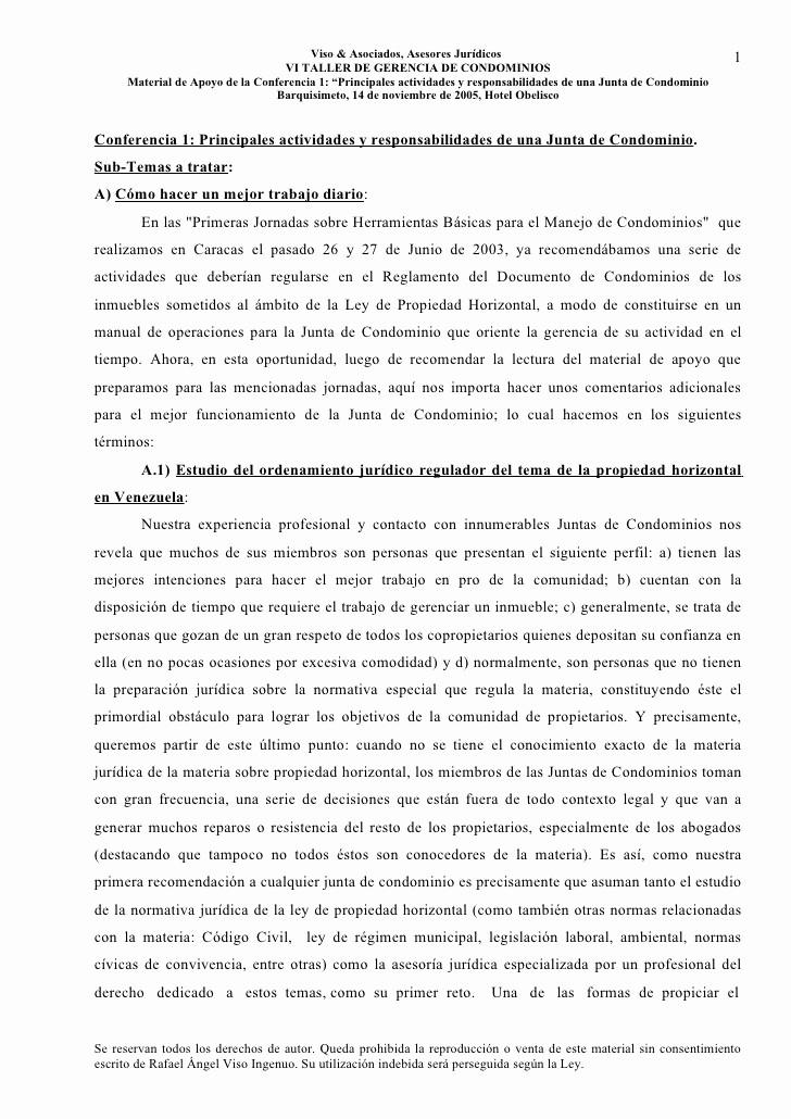 Formato Para Minutas De Juntas Unique Conferencia 1 Responsabilidades De La Junta De Condominio