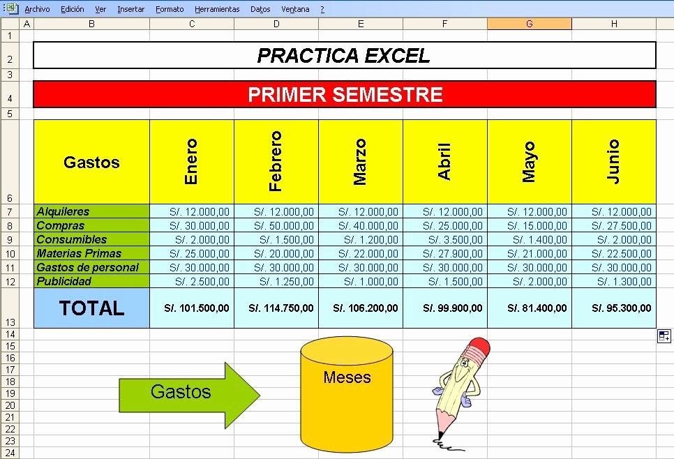 Formato Para Presupuesto En Excel Elegant InformÁtica Reparadora 1ro De Secundaria