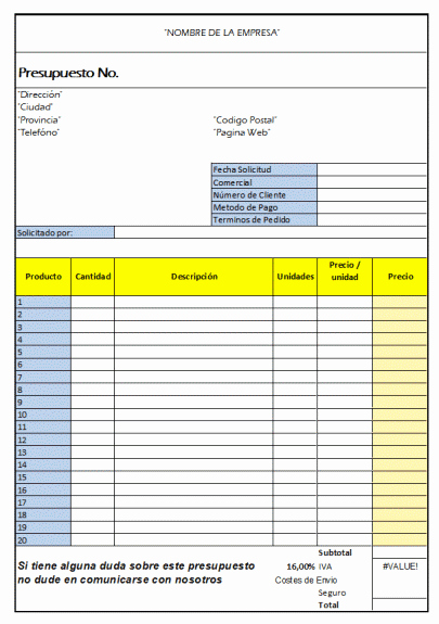 Formato Para Presupuesto En Excel Inspirational Informatica Fe Y Alegria Presupuesto Excel