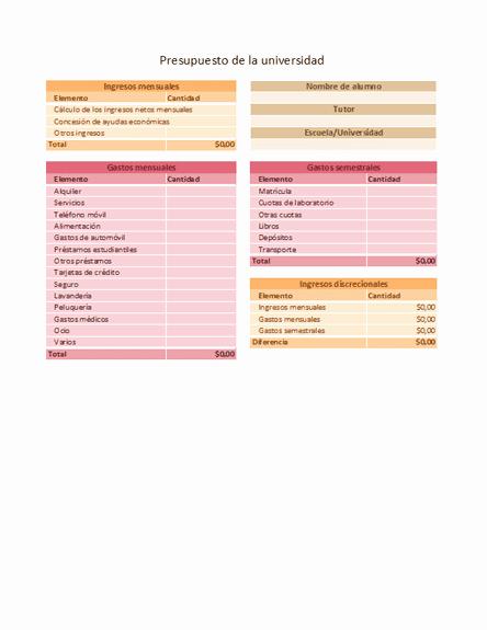 Formato Para Presupuesto En Excel Lovely Free Line Gratis Julio 2012