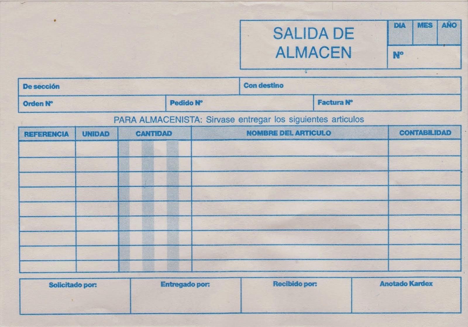 Formato Para Salida De Almacen Elegant Recibo Y Despacho 2014 Documentos De Control