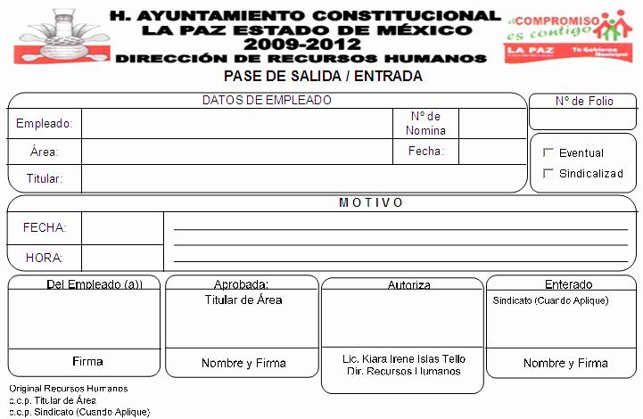 Formato Para Salida De Almacen New formatos De Entradas Y Salidas Rh Los Reyes La Paz