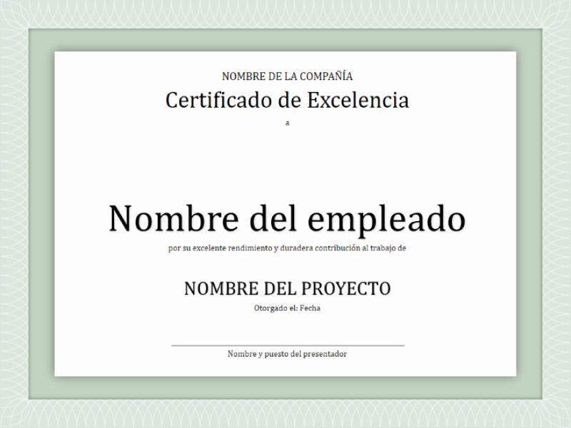 Formato Reconocimiento Empleado Del Mes Awesome Certificados Fice