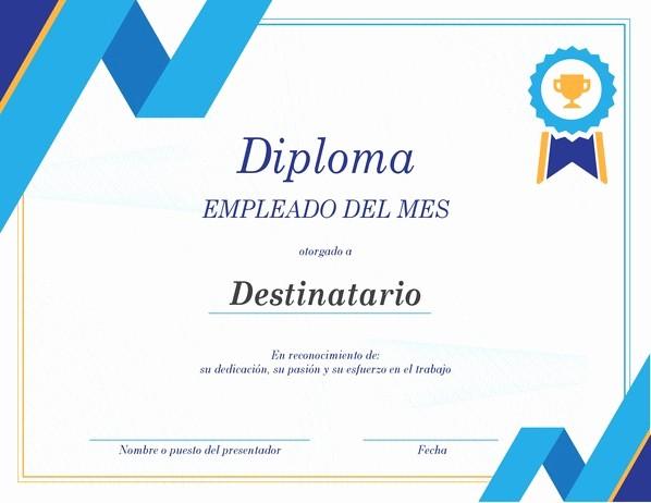 Formato Reconocimiento Empleado Del Mes Beautiful Certificados Fice