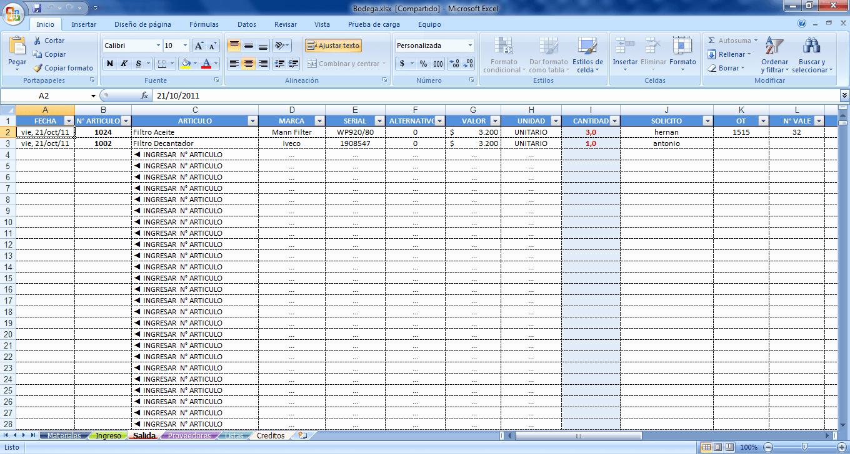 Formato Salida De Almacen Excel Awesome Sistema De Bodega Excel Apoyoti