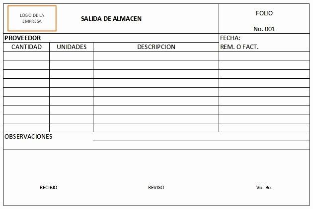 Formato Salida De Almacen Excel Luxury Bienvenido A Mi Blog formato Vale De Salida De Almacen