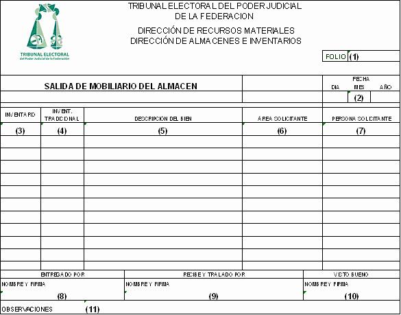 Formato Salida De Almacen Excel Luxury formatos De Entradas Y Salidas Dof Diario Oficial De La