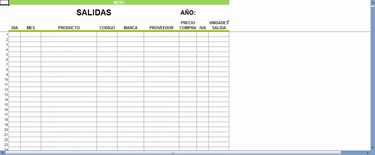 Formato Salida De Almacen Excel Luxury Sistema En Excel Para Control De Inventario Entradas