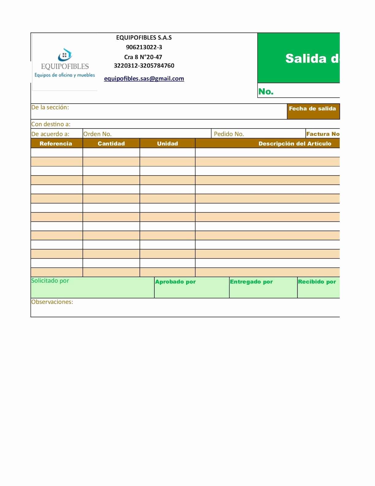 Formato Salida De Almacen Excel Unique Calaméo formato Salida De AlmacÉn