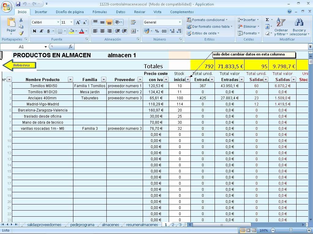 Formato Salida De Almacen Excel Unique Control Varios Almacenes Excel Descargar Para Pc Gratis