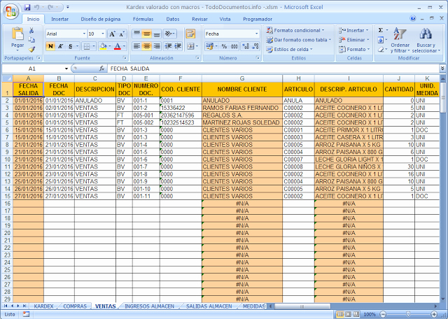 Formato Salida De Almacen Excel Unique Descargar Macro Hoja De Kardex Valorado En Excel