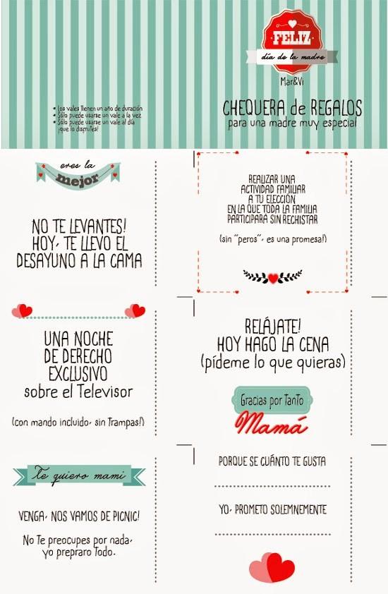 Formato Vale Por Para Imprimir Awesome Mar&vi Blog Da De La Madre Vales Regalo Para Descargar