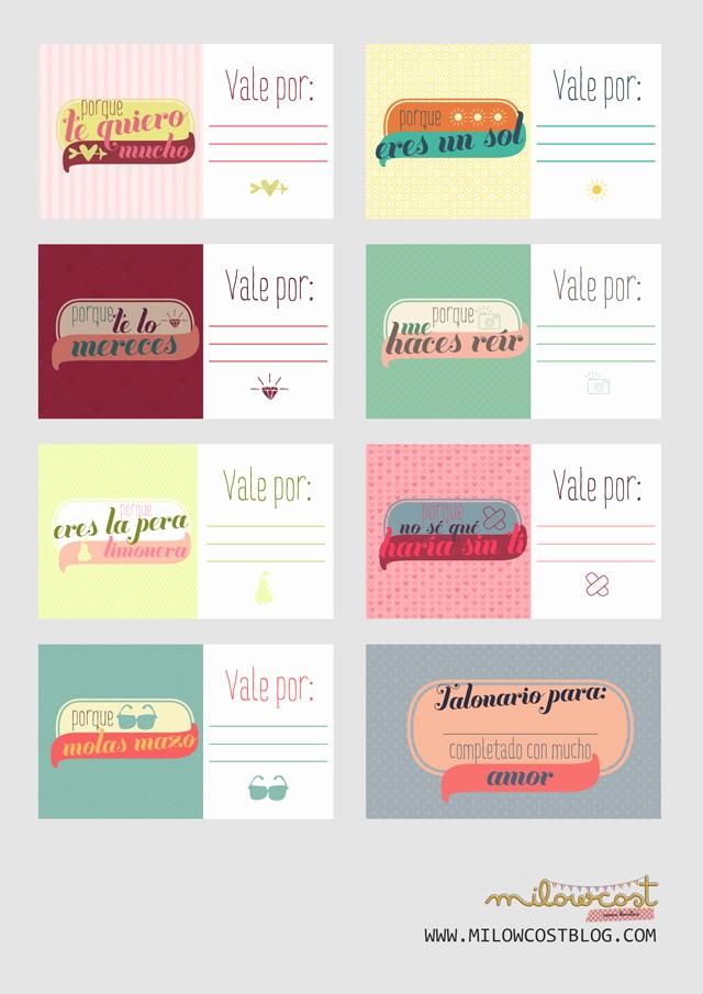 Formato Vale Por Para Imprimir Beautiful Imprimible Talonario De Vales