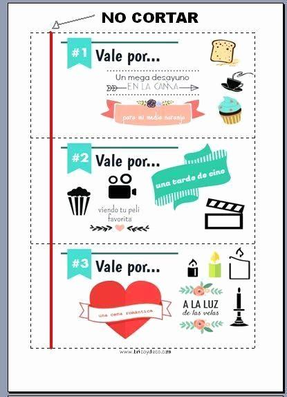 Formato Vale Por Para Imprimir Beautiful Talonario De San Valentn Para Regalar Con Mucho Amor