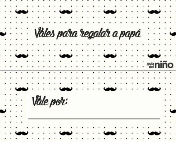 Formato Vale Por Para Imprimir Best Of Cómo Hacer Un Vale Regalo Da Del Padre