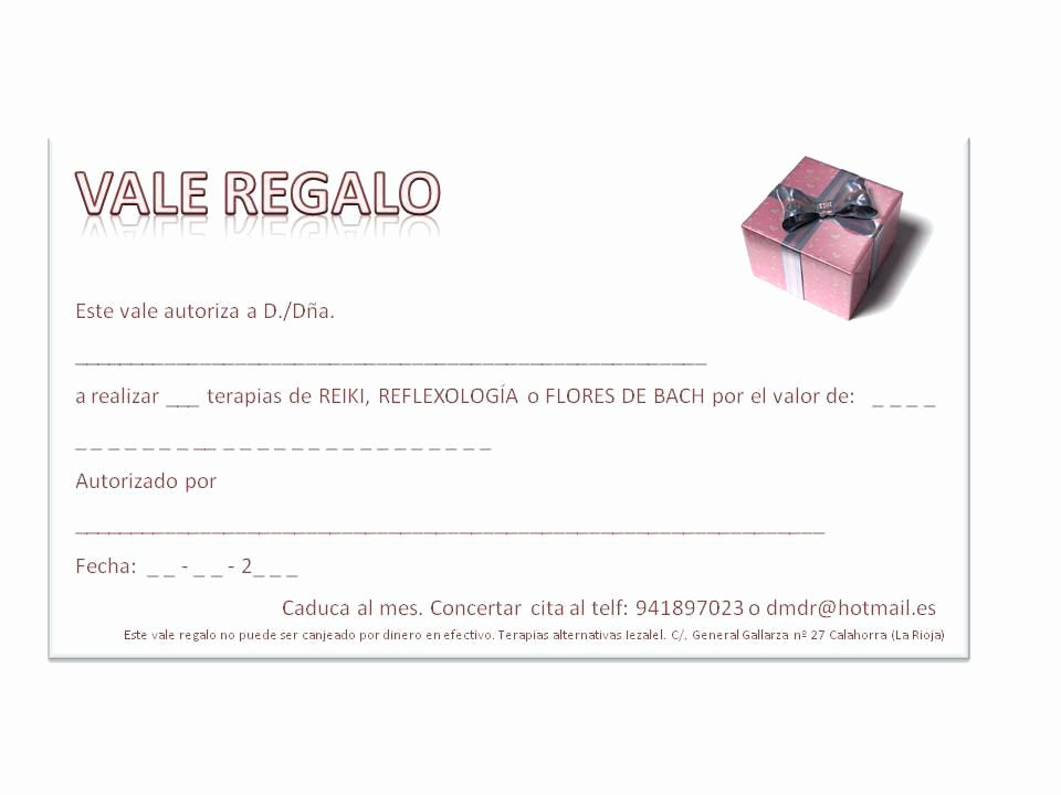 Formato Vale Por Para Imprimir Luxury Vale Por Un Regalo – Titlega