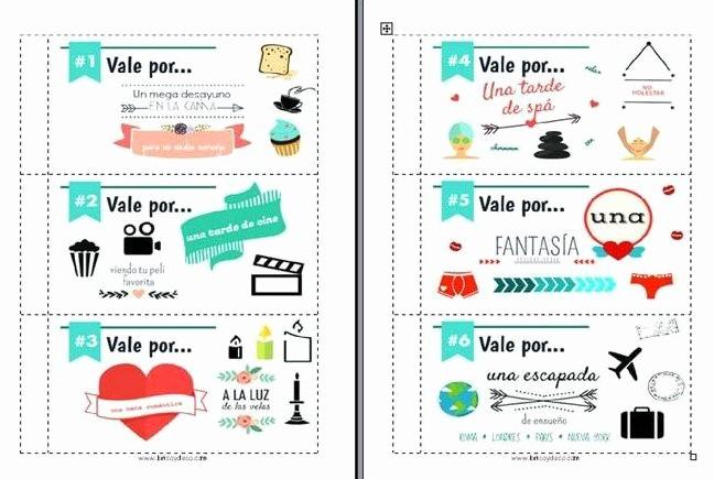 Formato Vale Por Para Imprimir New Vale Regalo Para San Valentn – Idea Para Despistados