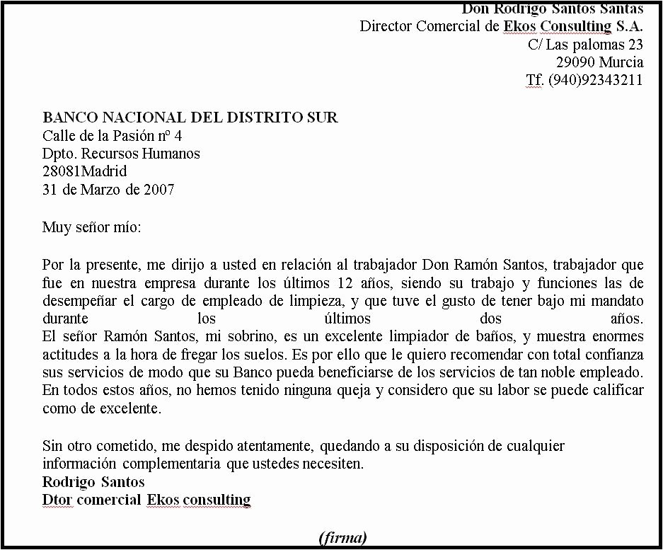 Formatos Carta De Recomendacion Laboral New formato De Carta De Re Endacion – formato Carta