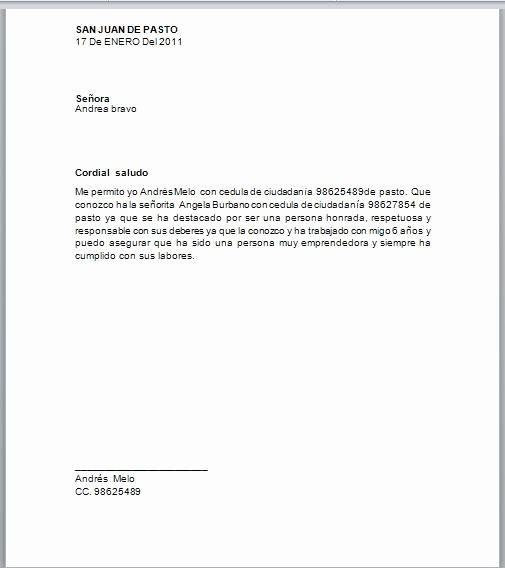 Formatos Carta De Recomendacion Laboral New formatos De Cartas De Re Endacion Personal Word Imagui