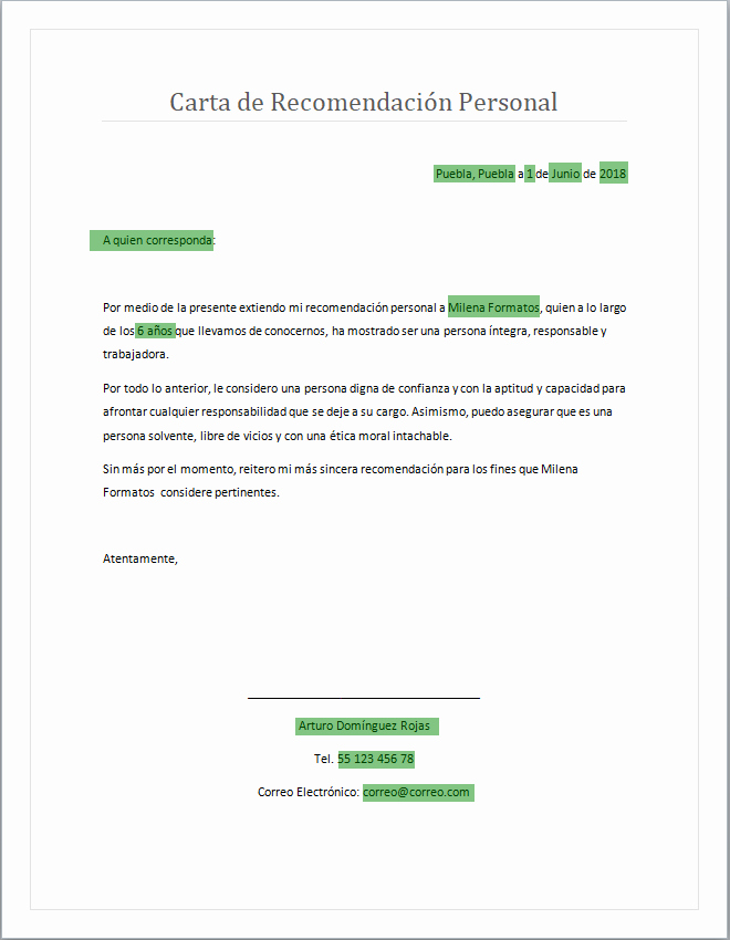 Formatos Carta De Recomendacion Personal Beautiful Resultado De Imagen Para Carta De Re Endacion Personal