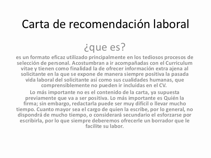 Formatos Carta De Recomendacion Personal New Carta De Re Endación Laboral