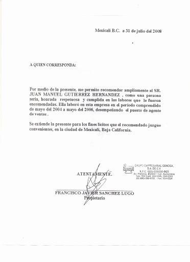 Formatos Carta De Recomendacion Personal Unique Maestro Raymundo © 2012 Ejemplos Y formatos De Cartas