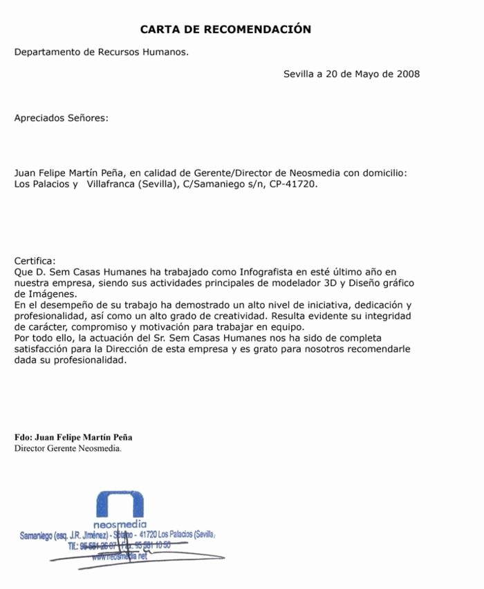 Formatos Carta De Recomendacion Personal Unique Modelo De Carta De Re Endacion Laboral