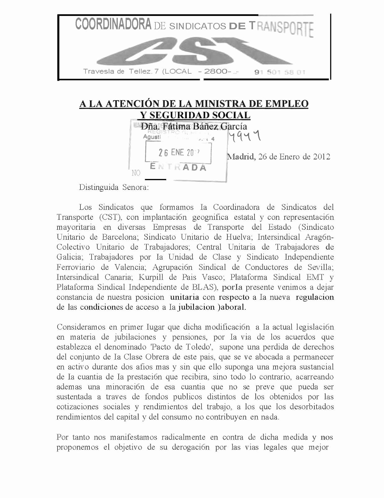 Formatos De Acuse De Recibo Elegant asc Sevilla Carta A La Ministra Acuse De Recibo