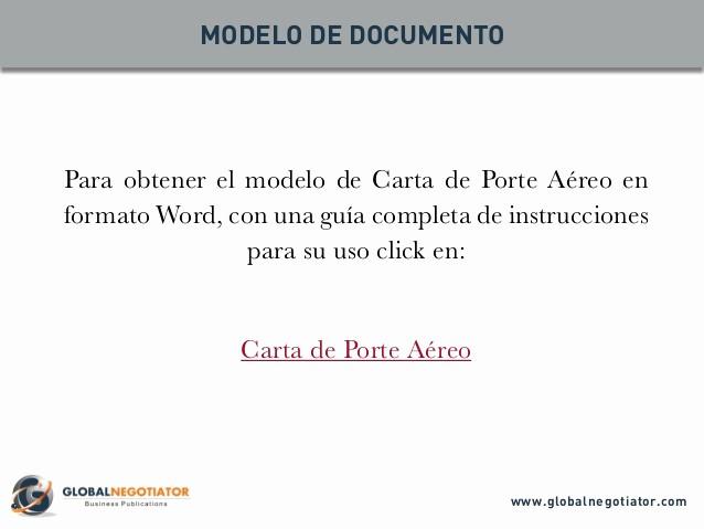 Formatos De Acuse De Recibo Elegant Carta De Porte AÉreo Modelo Y Gua De Uso