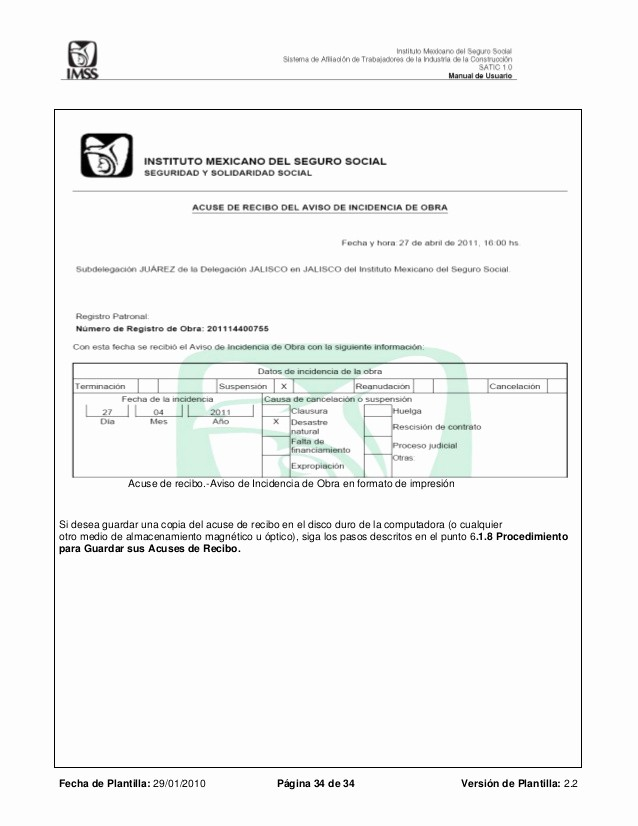 Formatos De Acuse De Recibo Fresh Manual Satic