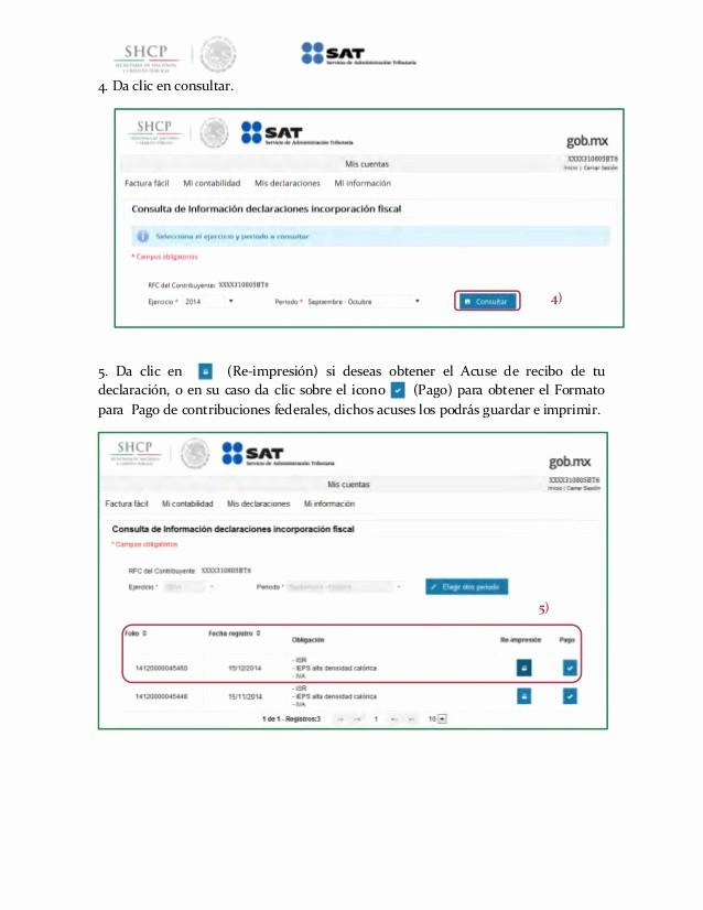 Formatos De Acuse De Recibo Lovely Guia Regimen De Incorporacion Fiscal 2015