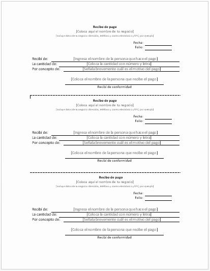 Formatos De Acuse De Recibo Lovely Recibo De Pago Ejemplos Y formatos