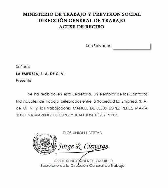 Formatos De Acuse De Recibo Luxury Eregulations Trámites El Salvador