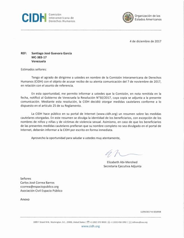 Formatos De Acuse De Recibo New Acuse De Recibo Medida Cautelar Caso Santiago José Guevara