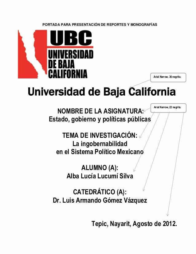 Formatos De Caratulas Para Trabajos Inspirational Manual Apa Ubc Trabajos Academicos