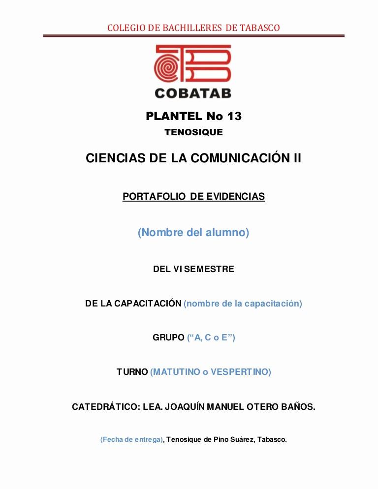Formatos De Caratulas Para Trabajos Inspirational Portada Portafolio De Evidencias