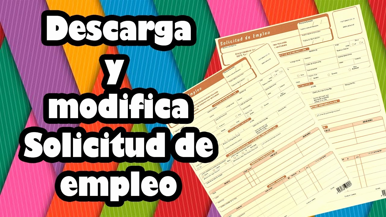 Formatos De Caratulas Para Trabajos Lovely Descarga Y Modifica solicitud De Empleo En Word