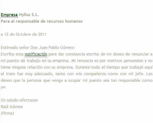 Formatos De Cartas De Renuncias New Modelo De Carta De Renuncia Voluntaria