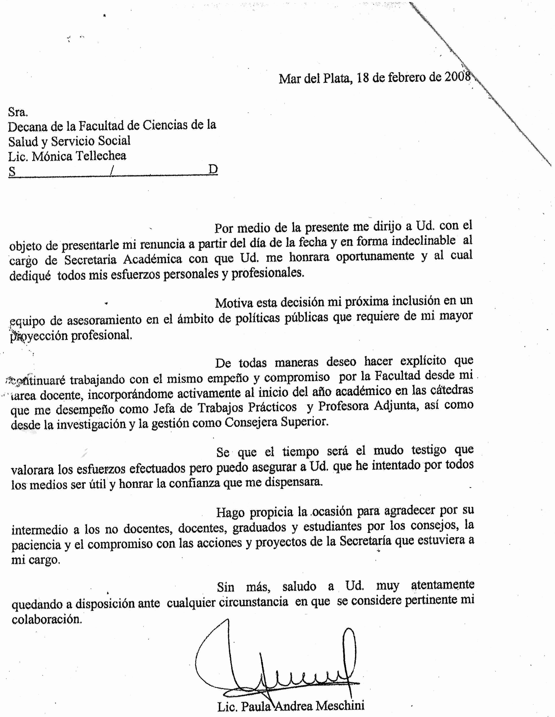 Formatos De Cartas De Renuncias New Ultimo Momento
