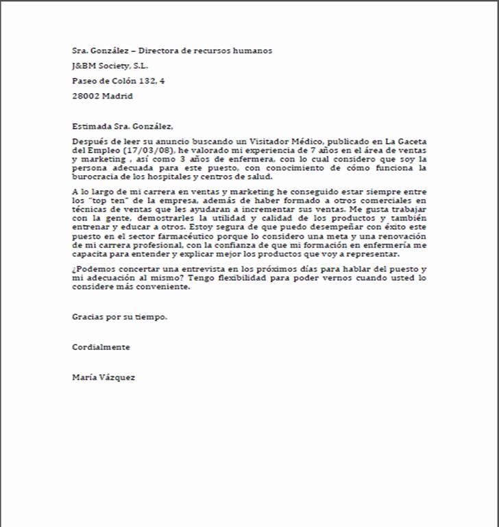 Formatos De Cartas De Trabajo Fresh formato De Una Carta De Trabajo