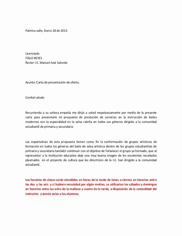 Formatos De Cartas De Trabajo Unique Grupo De Salsa formato Propuesta