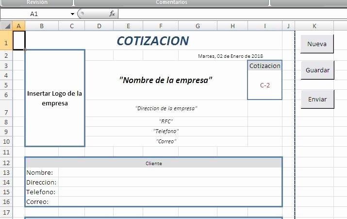 MLM formato excel para enviar cotizaciones JM