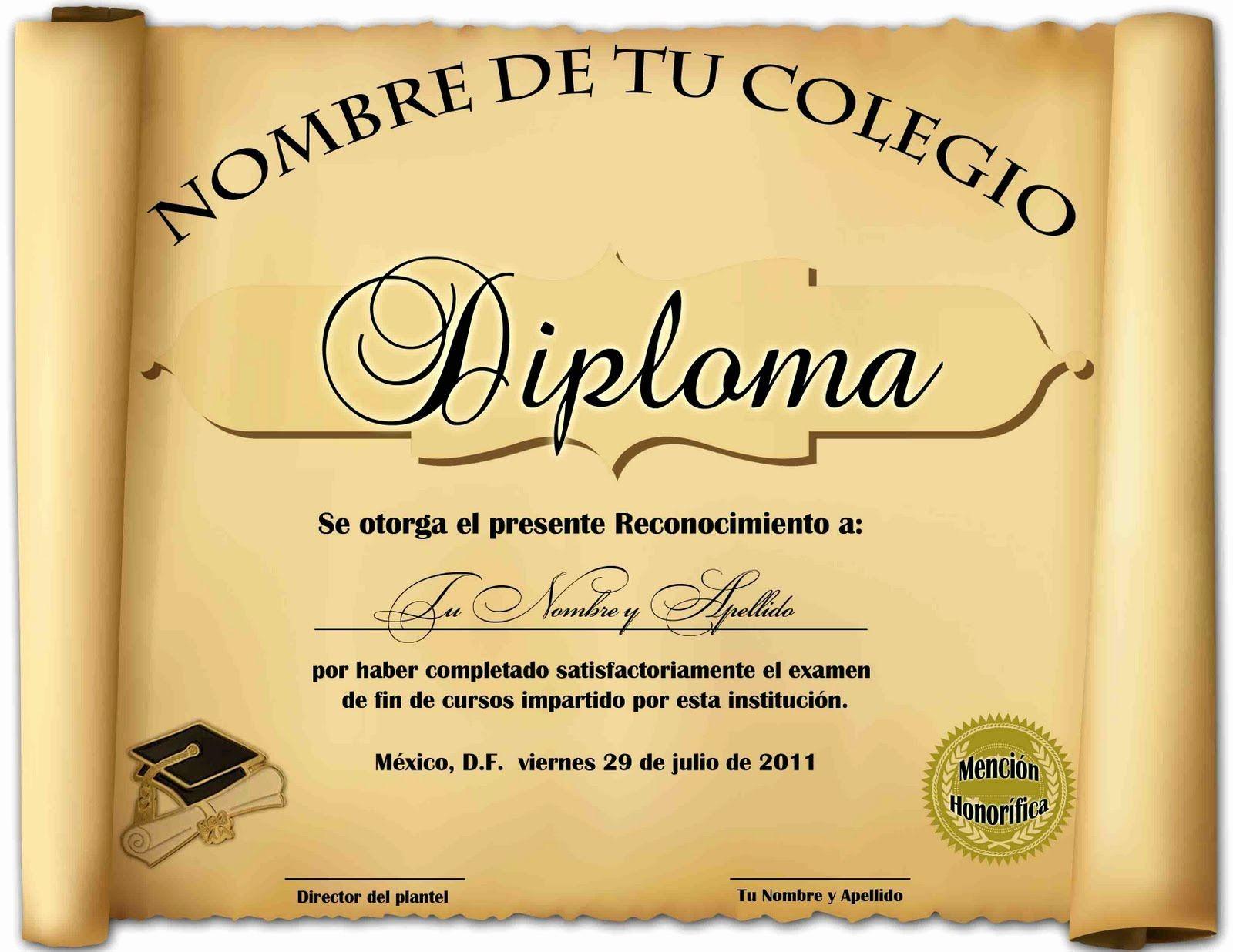Formatos De Diplomas Para Modificar Awesome Diplomas De Reconocimiento En Blanco Diplomas